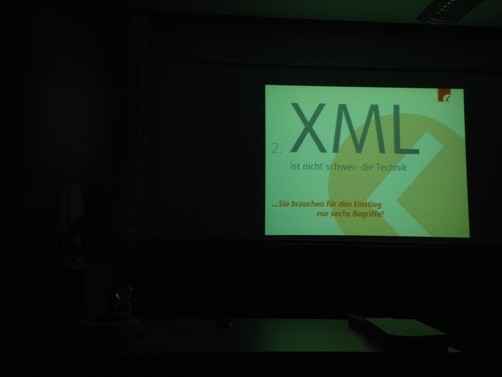 XML-Einfürhung im Dunkeln